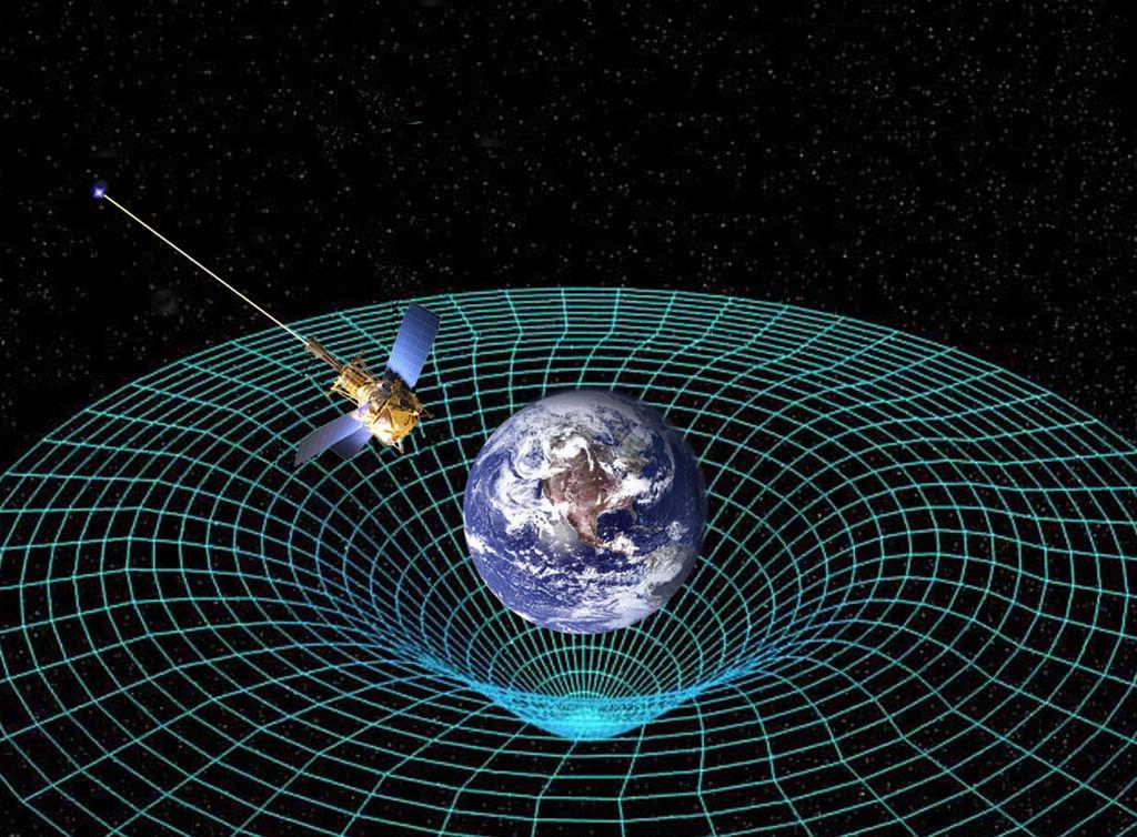 Gravity probe B meet de kromming van d eruimte-tijd rond de Aarde