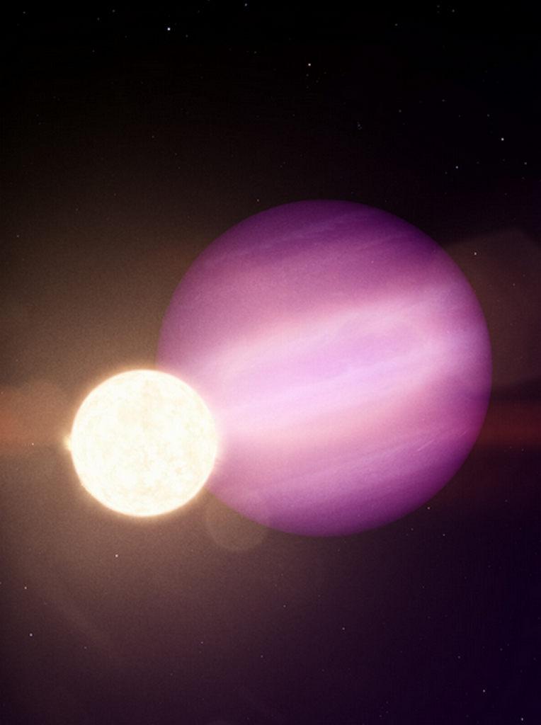 artist impressie exoplaneet WD 1856+534b