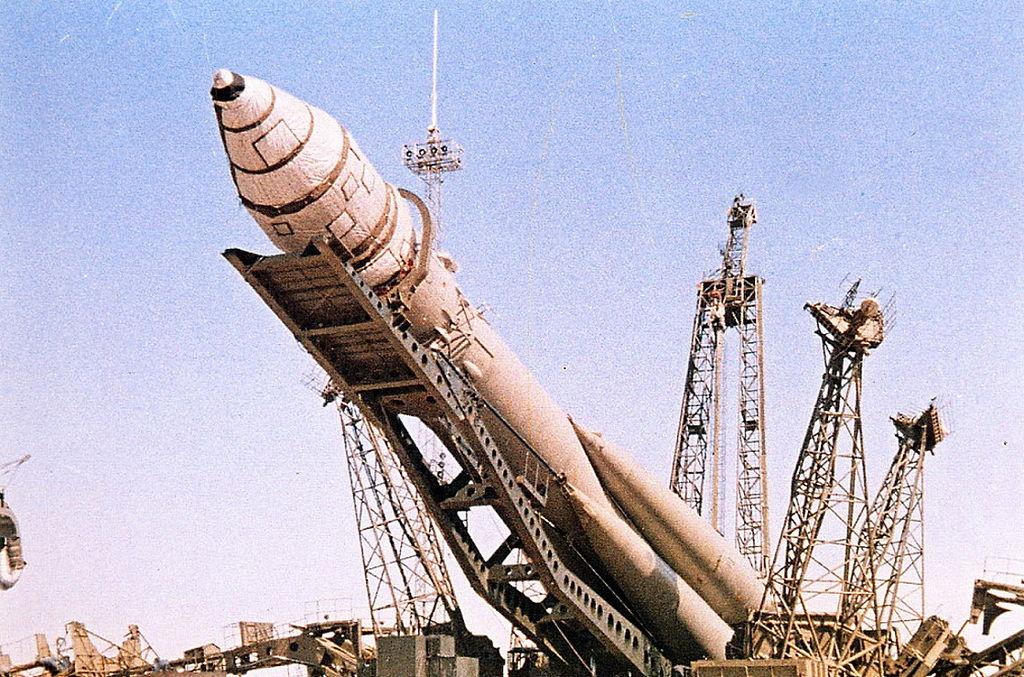 De raket die de Vostok ruimtecapsules lanceerde.