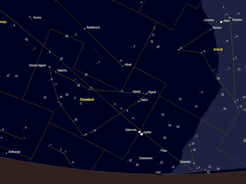 samenstand Jupiter en Saturnus op 18 december 2020