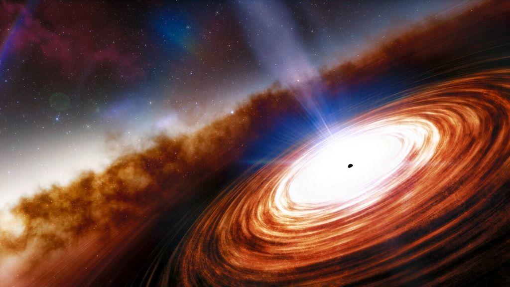 Artist impressie van de quasar J0313-1806