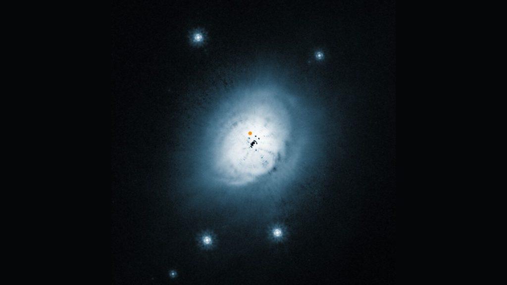 Stofschijf rond de ster HD 100546