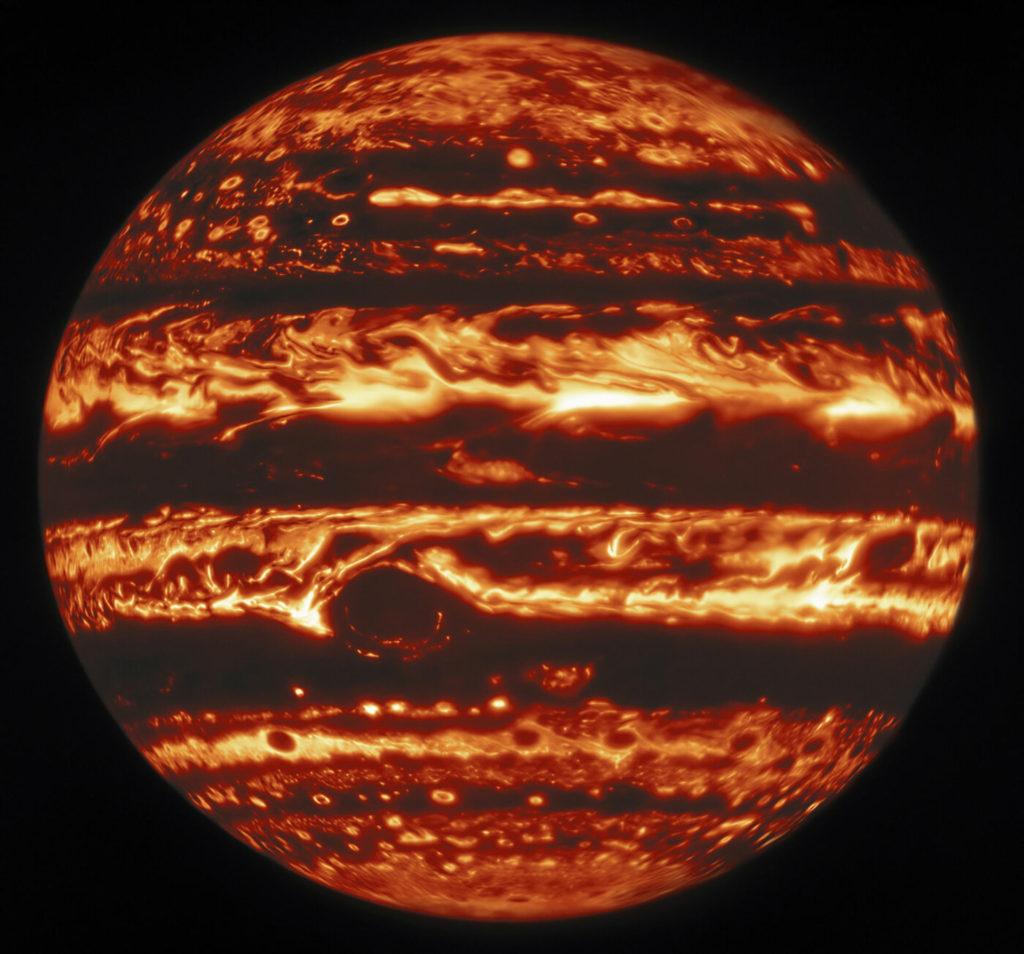 Jupiter in infrarood licht