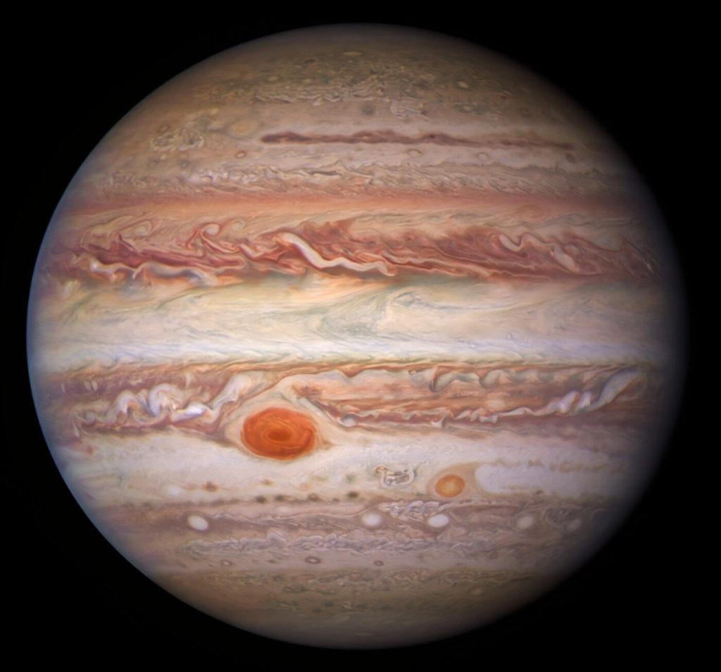 Jupiter in zichtbaar licht