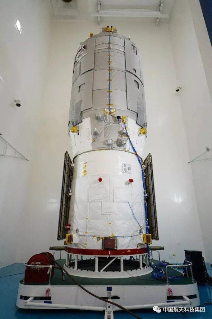 Tianzhou-2 voor de lancering
