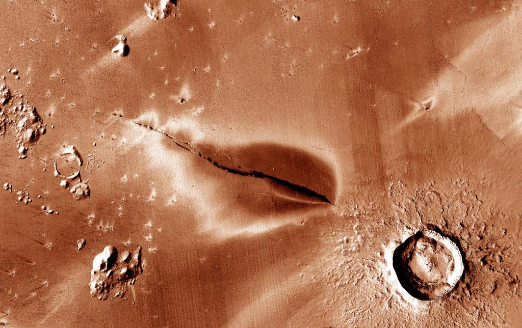 Recent vulkanisme op Mars
