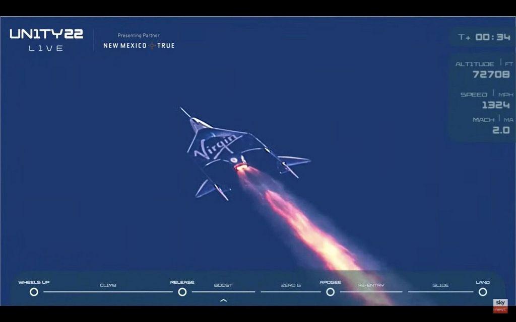 VSS Unity op weg naar de ruimte