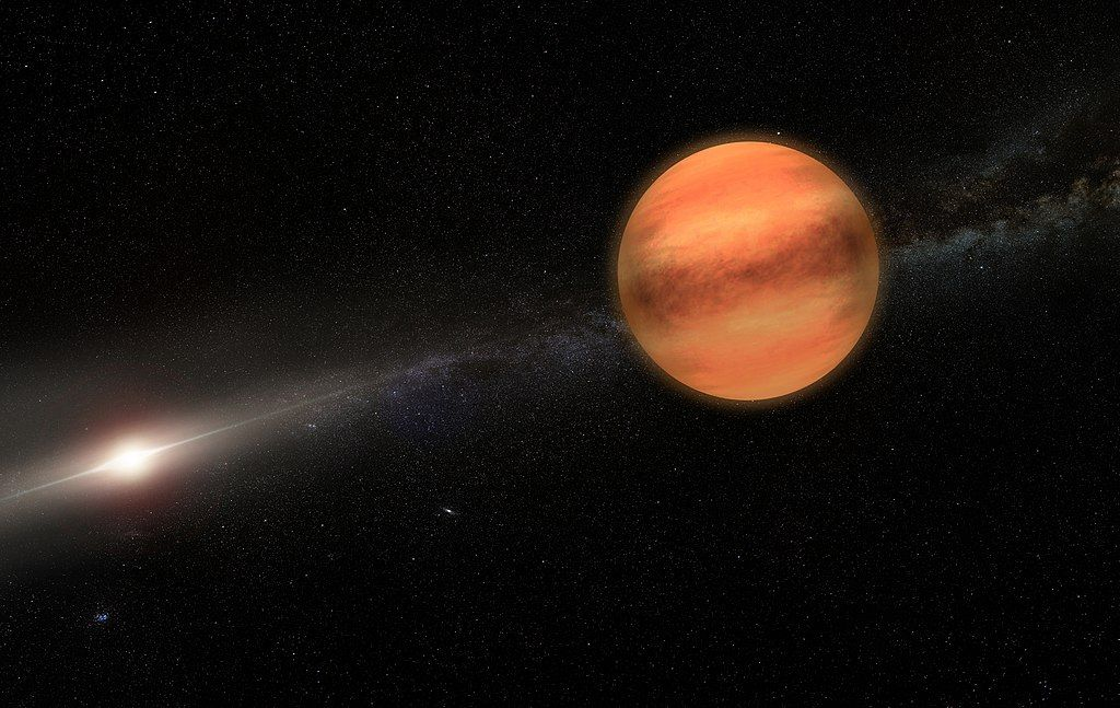 Artist impressie van exoplaneet TYC 8998-760-1 b