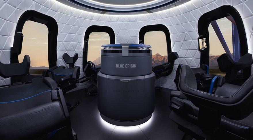 Interieur New Shepard capsule