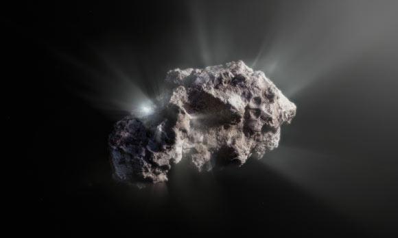 Artist impressie komeet Borisov