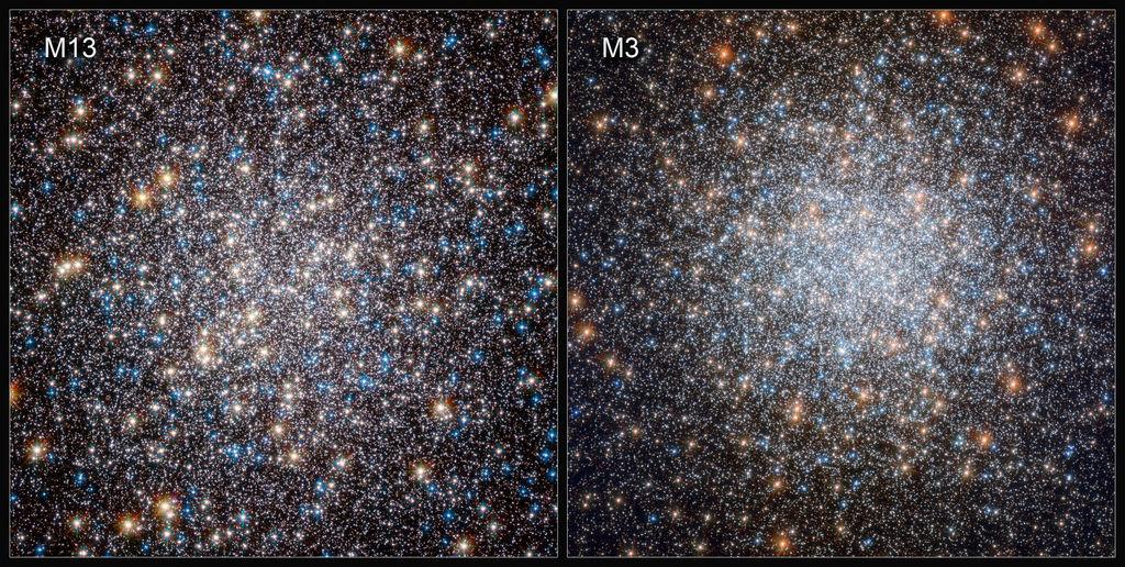 Witte dwergen in M1`3 en M3