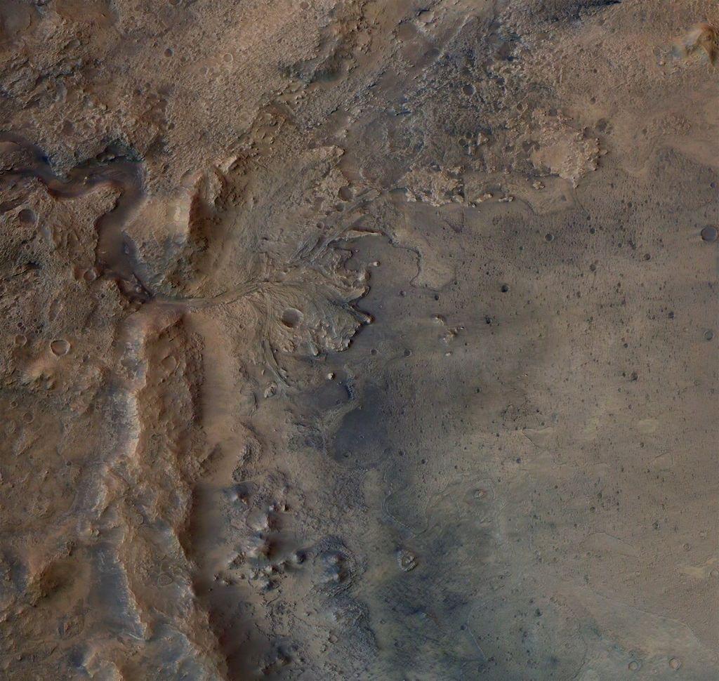 Jezero krater op Mars