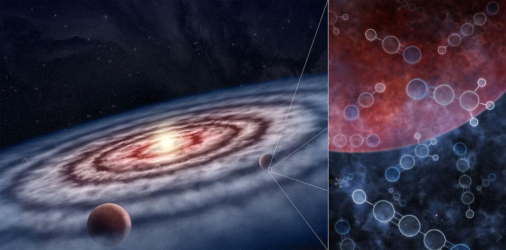 artist impressie protoplanetaire schijf