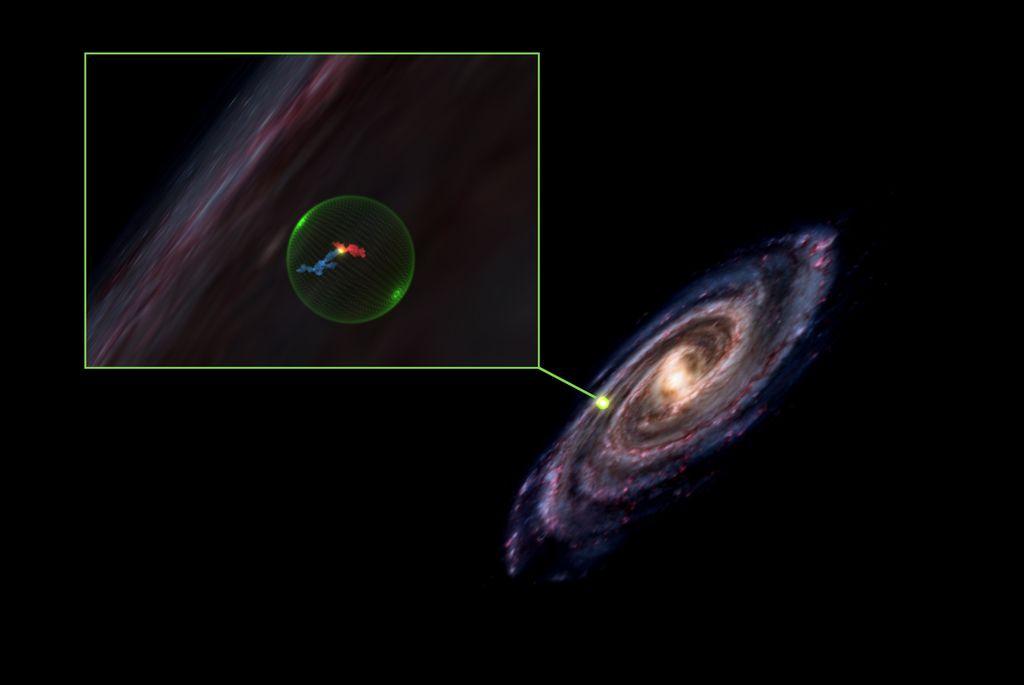 De gaswolken Perseus en Taurus samen met de leegte in ons sterrenstelsel