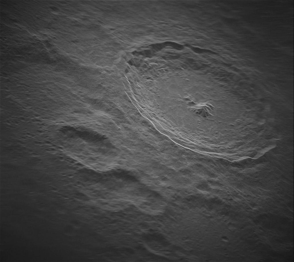 krater Tycho op de Maan