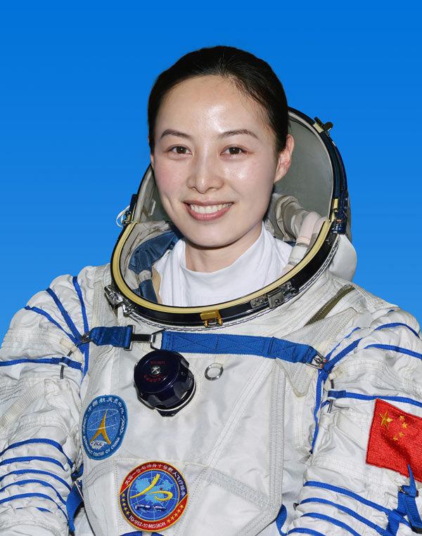 De Chinese astronaute Wang Yaping