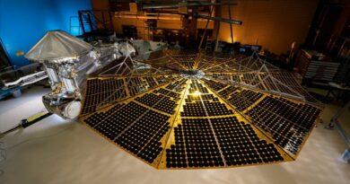 Zonnepaneel van de Lucy ruimtesonde